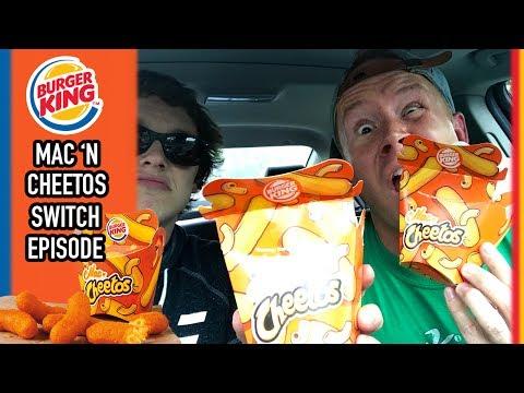 Burger King's Mac 'N Cheetos Food Review // SEAN & COREY SWITCH EPISODE