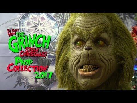 """How THE GRINCH Stole Christmas"" PROP COLLECTION Display 2017 in 4K"