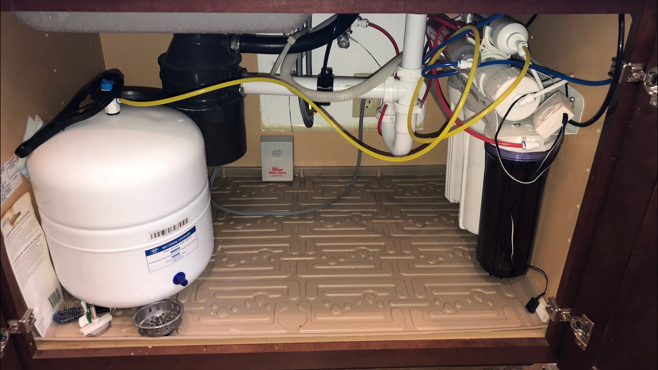 Under Kitchen Sink Mat Water Damage Protection Youtube