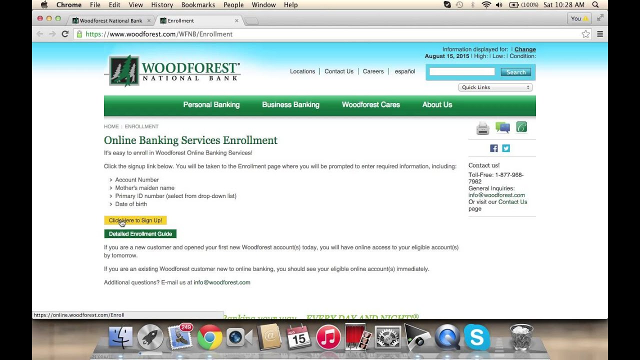 How to check your bank account online woodforest