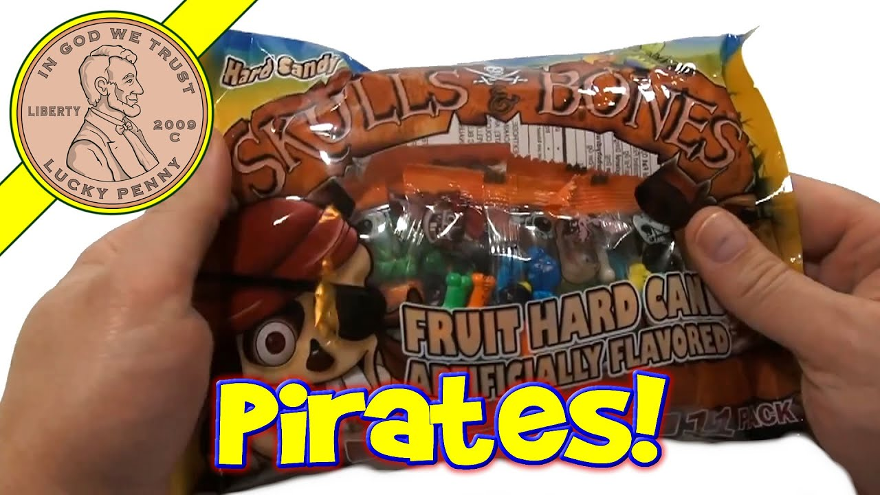 skulls & bones halloween hard candy - unique & oddball candy - youtube