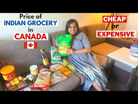 My First INDIAN Grocery Shopping in Canada   Prices of Indian Grocery in Toronto