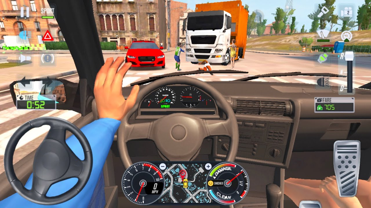 Taxi Sim 2020 🚖🚔🚘 CAR GAME BMW DRIVER - Car Games 3D Android iOS Gameplay New Game Cars Full