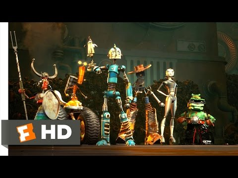 Robots (2/3) Movie CLIP - Charge! (2005) HD