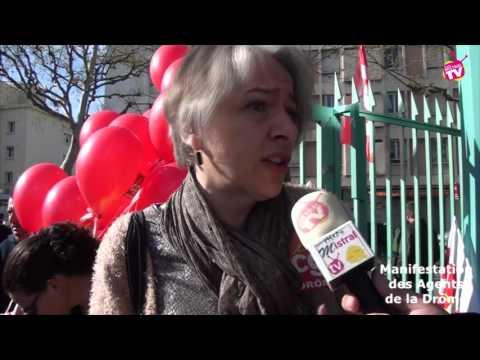 Manifestation des agents de la Drôme
