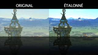 The Legend of Zelda : Breath of the Wild sans le brouillard (augmentation du contraste)