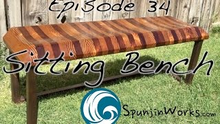 Make a Modern Reclaimed Wood Bench