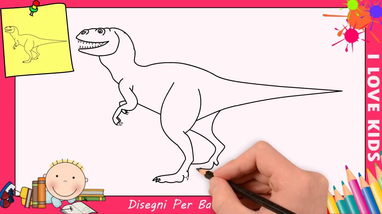 Come Disegnare Un Dinosauro Facile Passo Per Passo Per Bambini 2