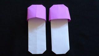 Cara Membuat Origami Sandal Bakiak   Origami Alat