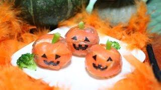 How To Make Halloween Jack-o'-lantern Sushi  (recipe) ハロウィン ジャックランタン 寿司 作り方 (レシピ)