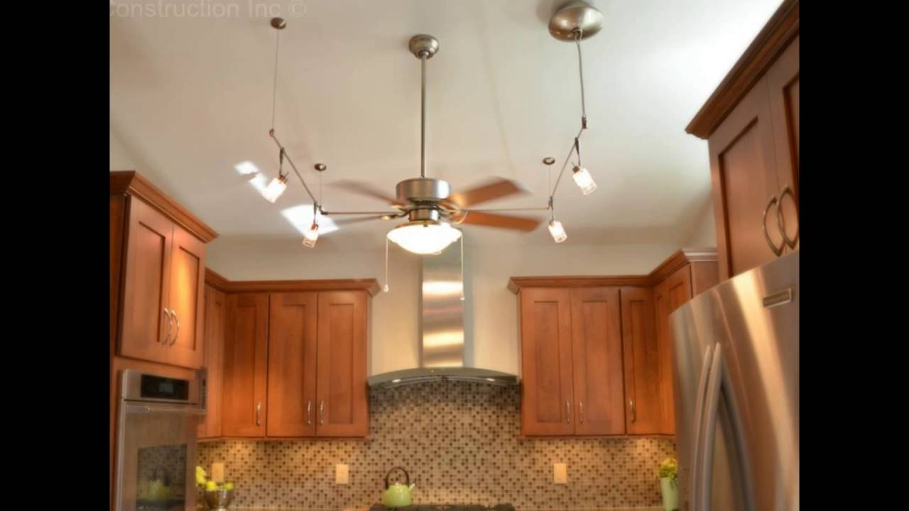 kitchen ceiling fans with lights - YouTube