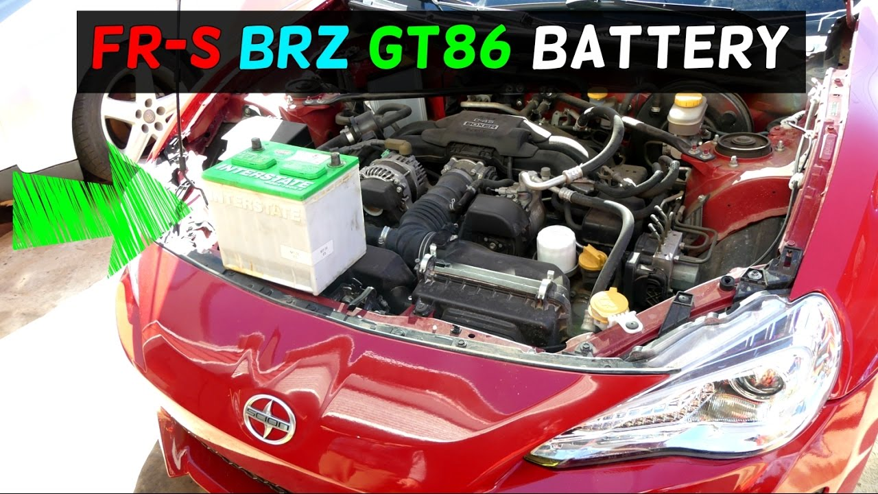 hight resolution of scion fr s frs subaru brz battery replacement