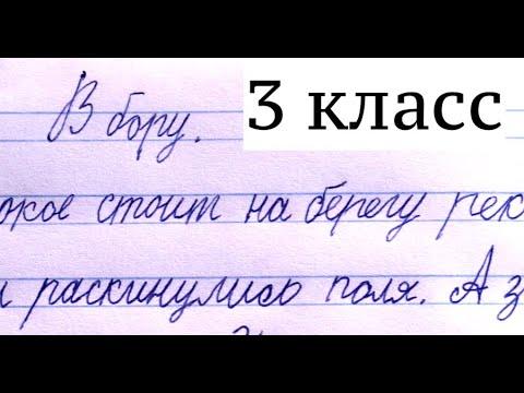 """Диктант """"В бору"""" 3 класс"""