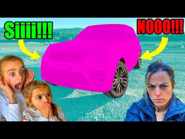 Pintamos el coche rosa a Mireia y se enfada mucho con reacción!! Las Ratitas by ItarteVlogs