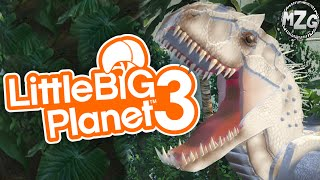 Jurassic World!! - LittleBigPlanet 3 Community Levels (Let's Play Playthrough)