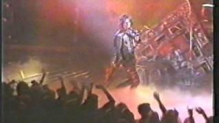 Alice Cooper live at Odeon Birmingham, England 1986