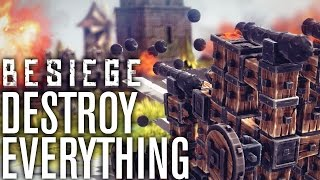 DESTROY ALL THE THINGS - Besiege (Alpha) #1