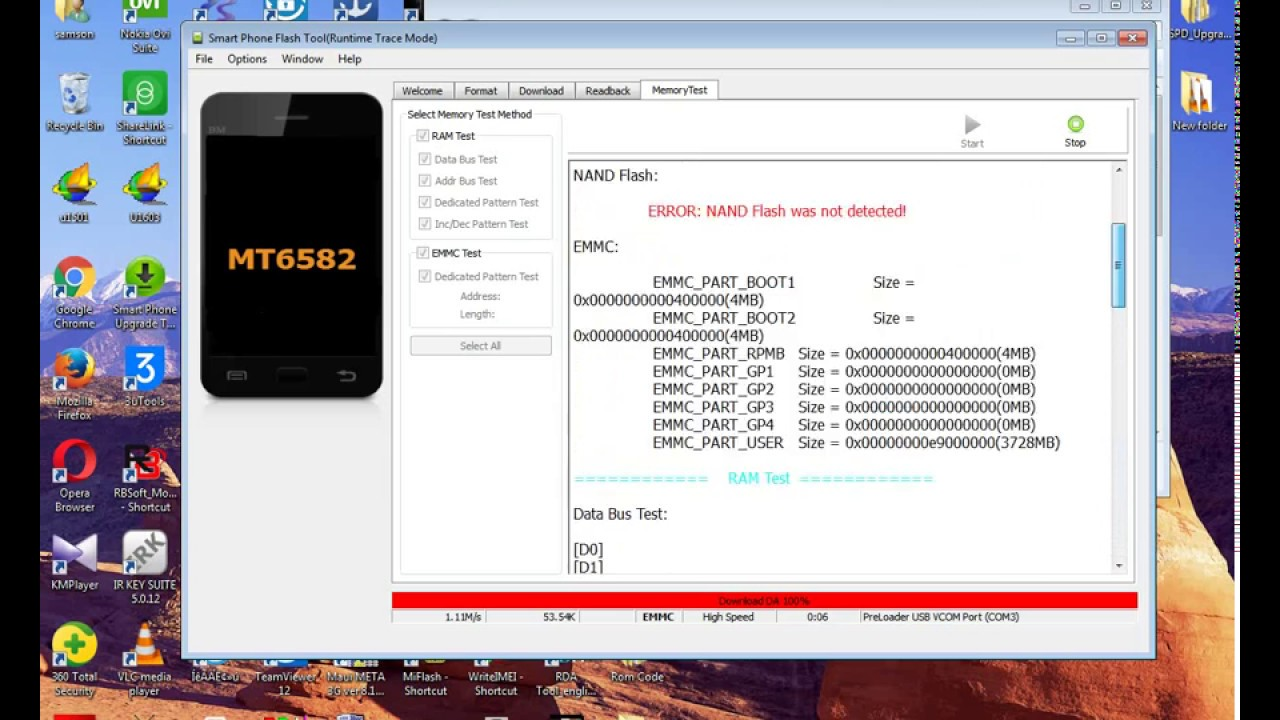 How to emmc testing mtk phone