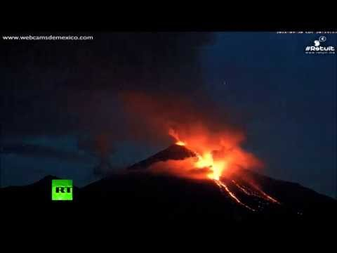 Stunning timelapse: Colima volcano erupts in Mexico