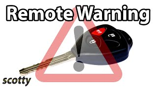 Why Not To Lock Your Car Door With Your Remote