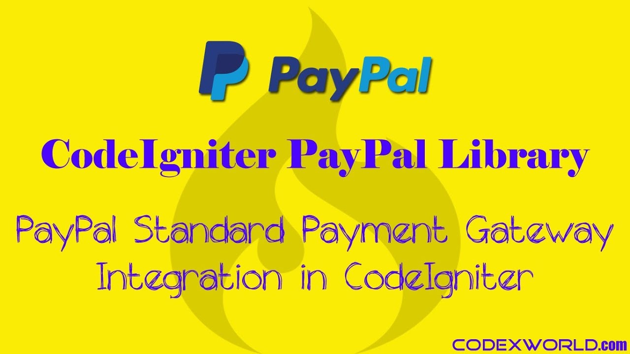PayPal Payment Gateway Integration in CodeIgniter - CodexWorld