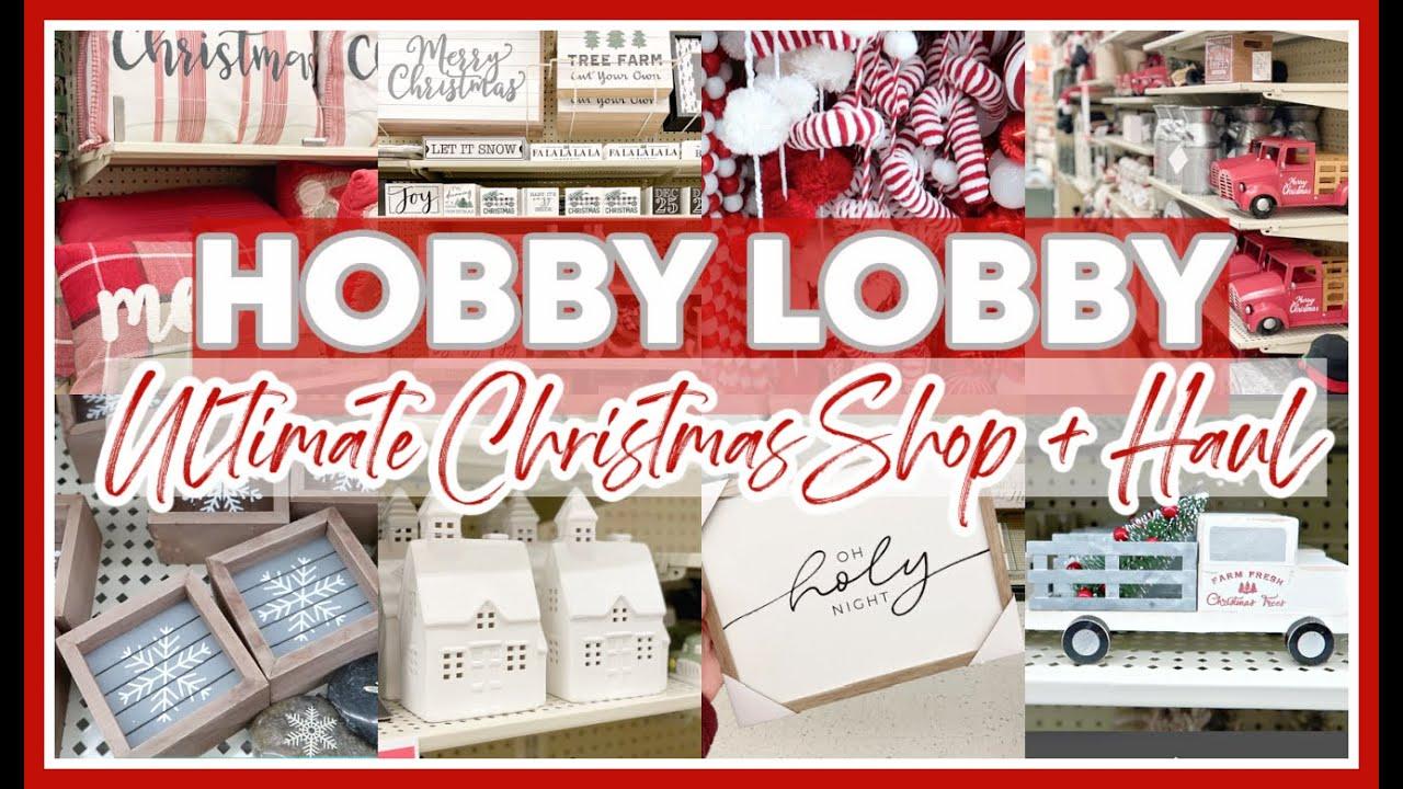 Download HOBBY LOBBY CHRISTMAS SHOP WITH ME & HAUL 2021 | FARMHOUSE CHRISTMAS DECOR
