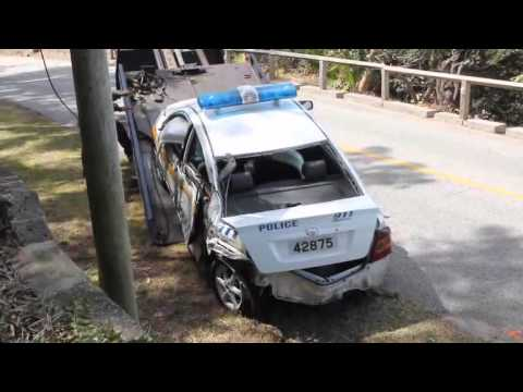 Police Car Accident North Shore Rd Bermuda March 28 2012