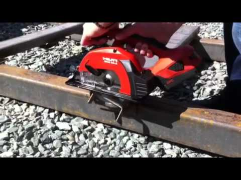 Scm 22 A Cordless Circular Saws For Metal In Work Youtube