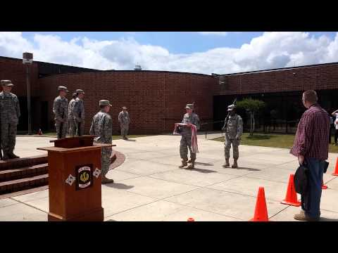 Green Sea Floyds High School Flag Retirement Ceremony