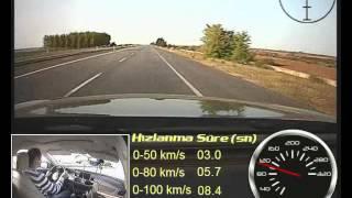 Audi A6 2.0  TDI Multitronic Test (0-100 Km/s, 100-0 Km/s)