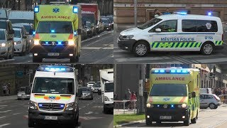 Police and (Privat) Ambulance services with lights and sirens in Prague! #925