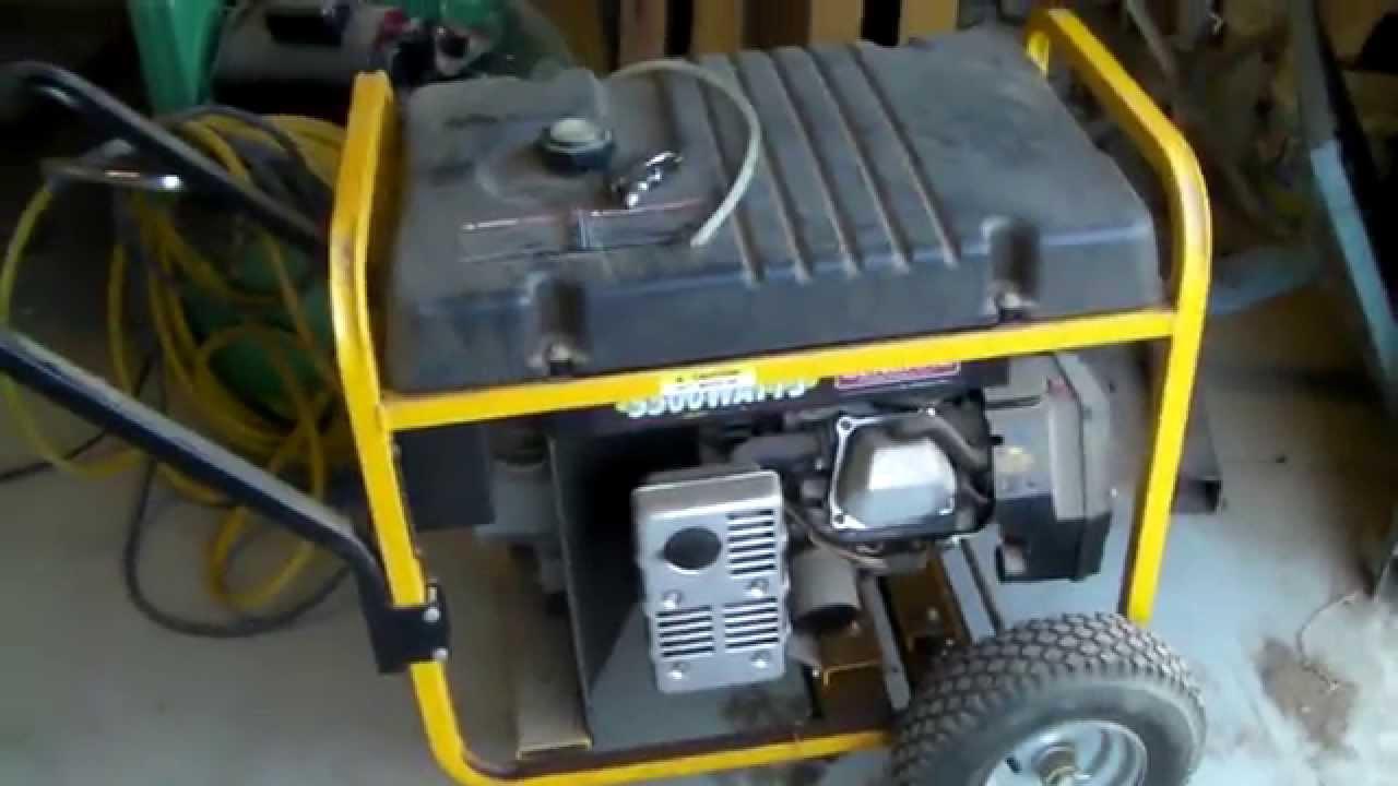 Generac 5500 Watt Generator Youtube Wiring A Portable Power Supply Cord For My