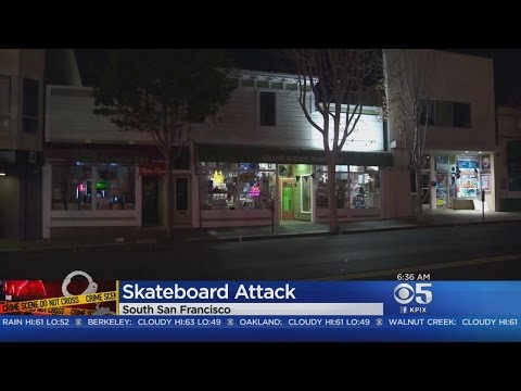 San Francisco police officer attacked with skateboard
