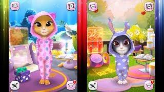 Моя говорящая Анджела Две сестрички #10 Анжела и Мила Вечеринка Мультик про котиков для детей