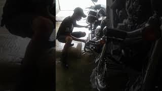 cara cuci motor harley