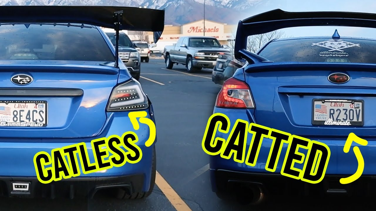 Straight pipe vs catted subaru wrx exhaust