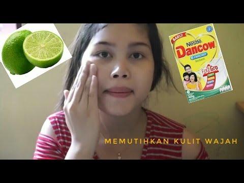 Memutihkan wajah dengan masker susu dancow dan jeruk nipis || manfaat susu dancow masker alami