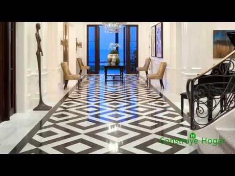 Diseño de pisos sorprendentes |  Tipos de pisos, formas y colores