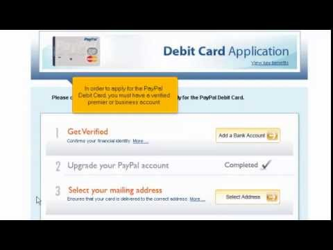 how to apply for a paypal debit card youtube. Black Bedroom Furniture Sets. Home Design Ideas