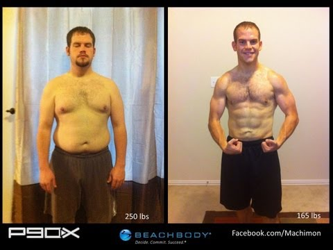 P90X Results  - Matt's Transformation - 85 pounds lost