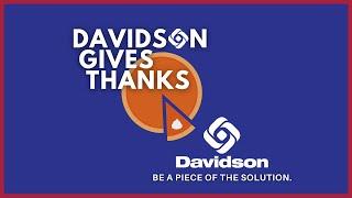 Davidson Gives Thanks Wrap Up