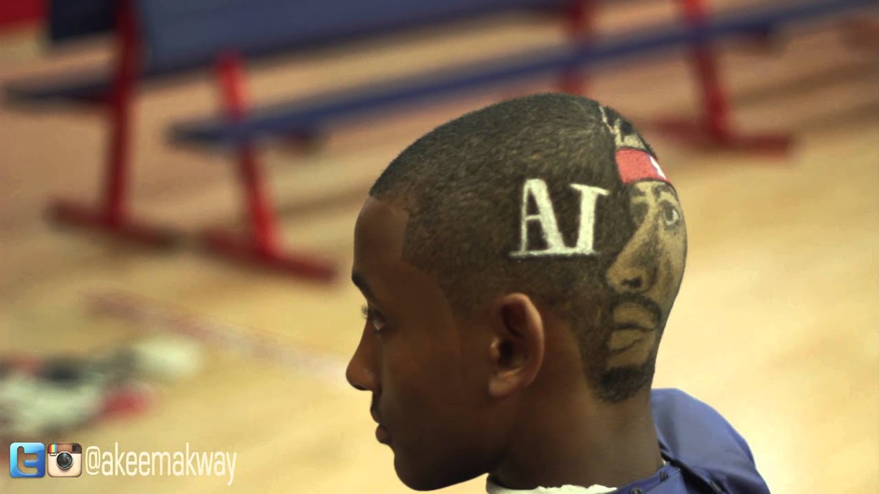 iverson haircut design by akeem akway