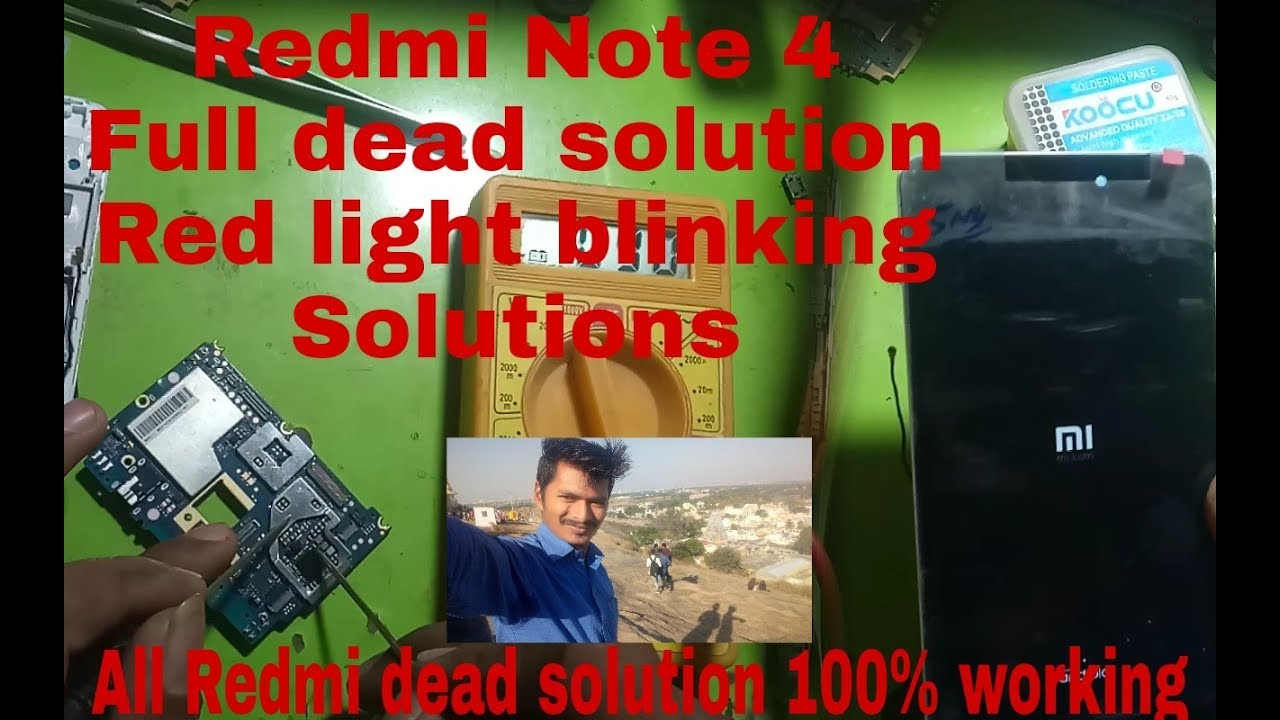 Redmi note 4 Dead Solutions,Red Light Blinking Solutions,All Redmi Models