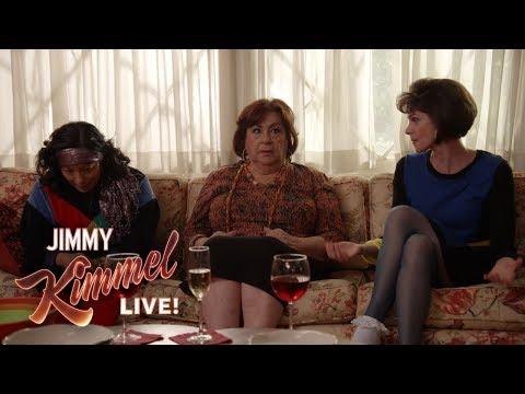 Jimmy Kimmel & Cousin Sal Prank Aunt Chippy On TV Show Set