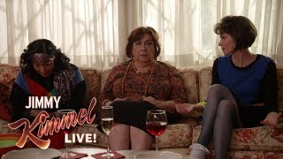 Jimmy Kimmel & Cousin Sal Prank Aunt Chippy on TV Show Set