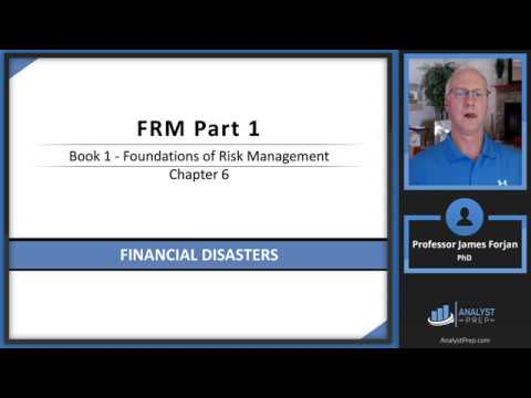 Financial Disasters (FRM Part 1 – Book 1 – Chapter 6)