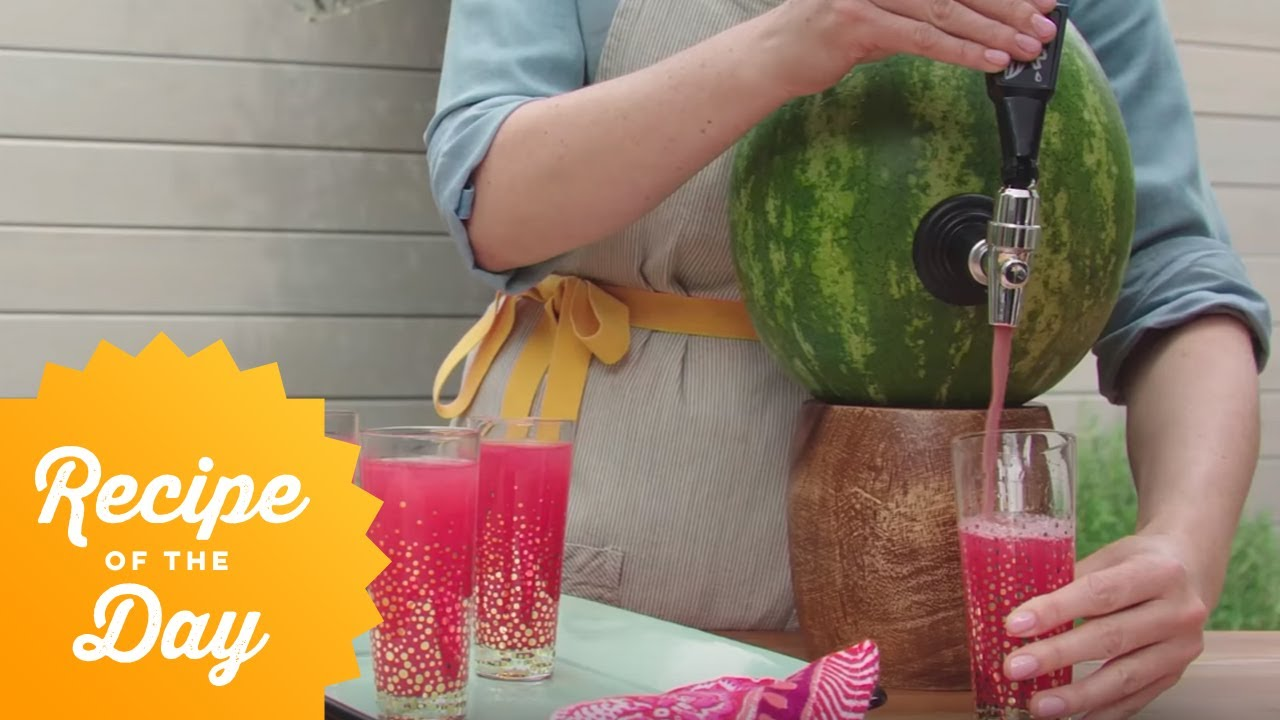 How to Win Summer: Tap a Watermelon Keg | Food Network - YouTube