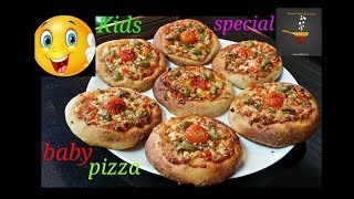 Mini Pizza Recipe/Quick&Easy Baby Pizza At Home/Baby Food Pizza Recipe