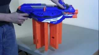 rEVIEW Nerf Hail-Fire - Unboxing, Review, & Firing Test