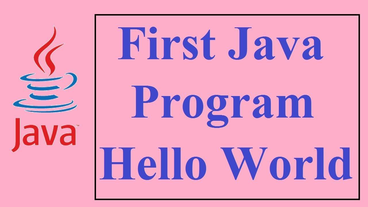 Java tutorials for beginners 3 my first java program youtube java tutorials for beginners 3 my first java program baditri Gallery